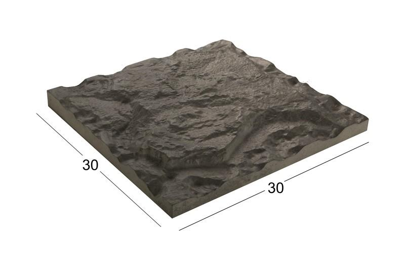 بتن اکسپوز کلاس B | سنگ فرش ۳۰x۳۰ cm بادبر