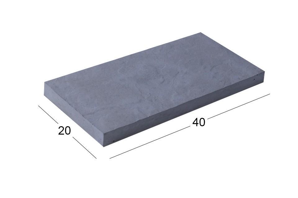 بتن اکسپوز کلاس B | سنگ فرش ۲۰x۴۰ cm بادبر