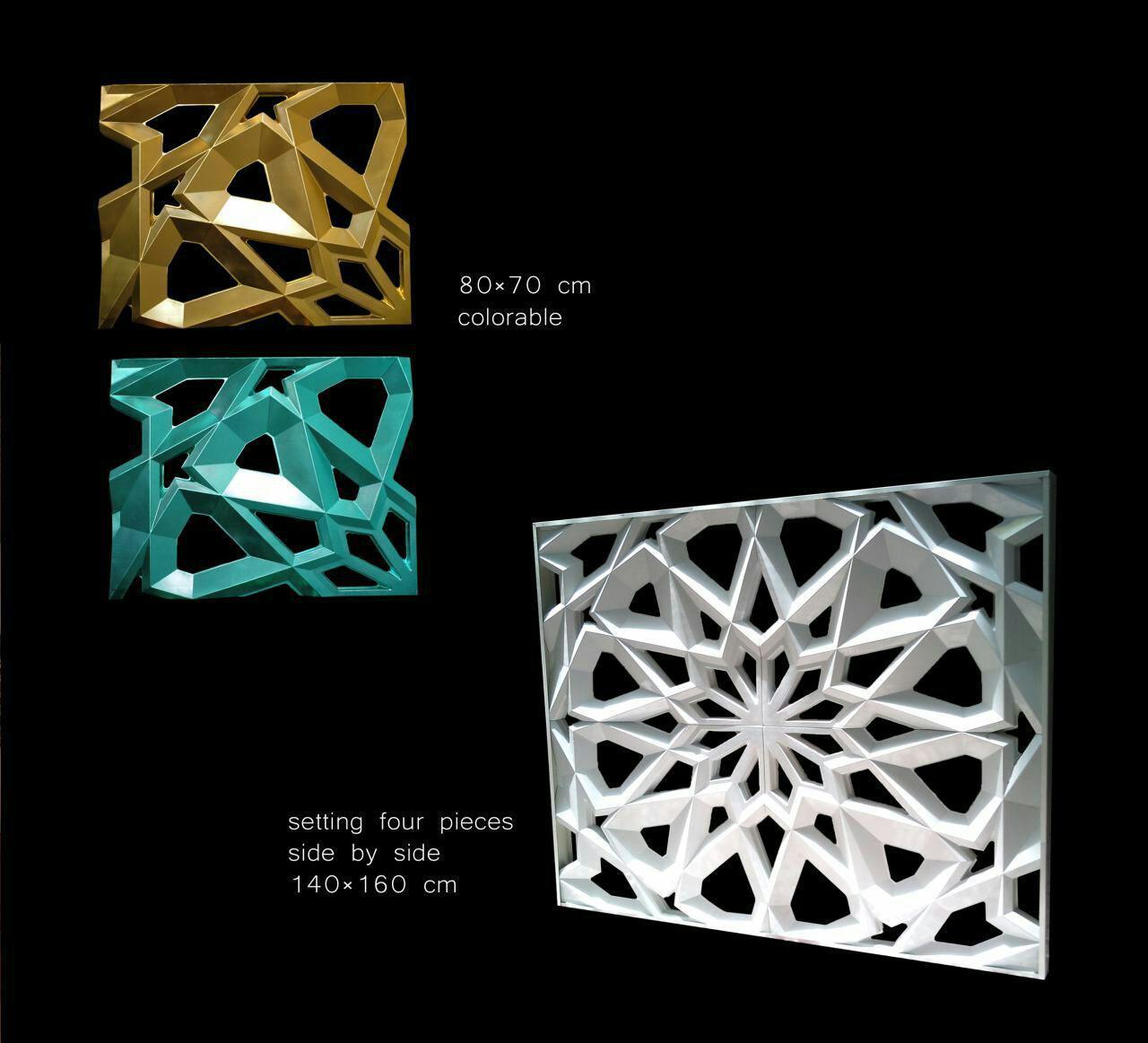 پنل شمسه سه بعدی-۱- جی اف آر سی