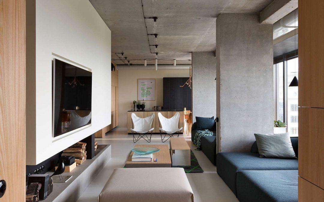 ارتقای زیبایی بتن اکسپوز در طراحی داخلی