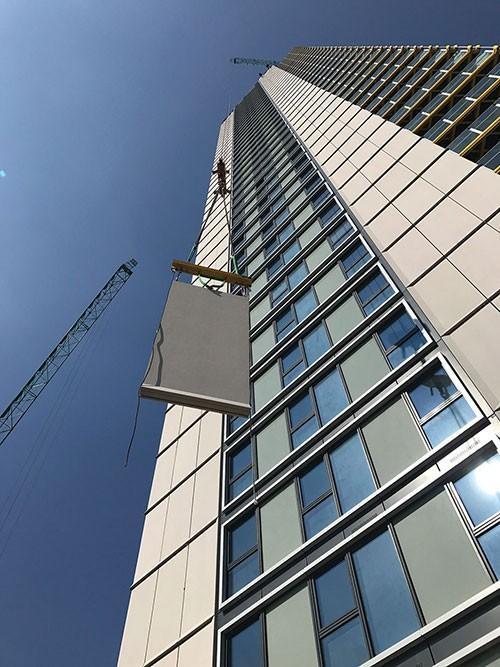 نمای جی اف آر سی برای ساختمان های مرتفع