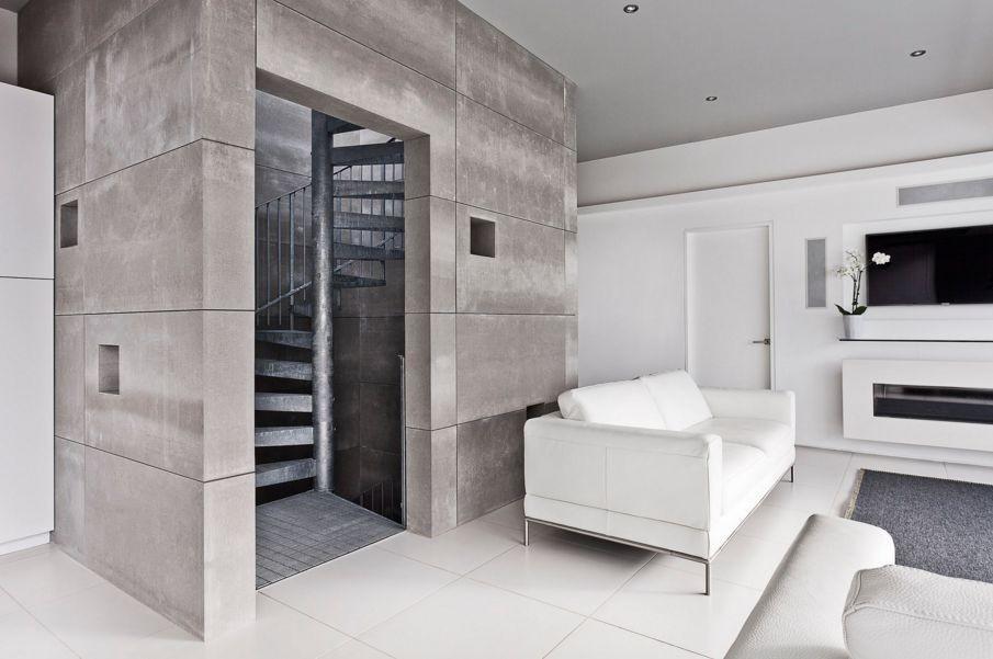 طراحی داخلی با پنل های بتن اکسپوز