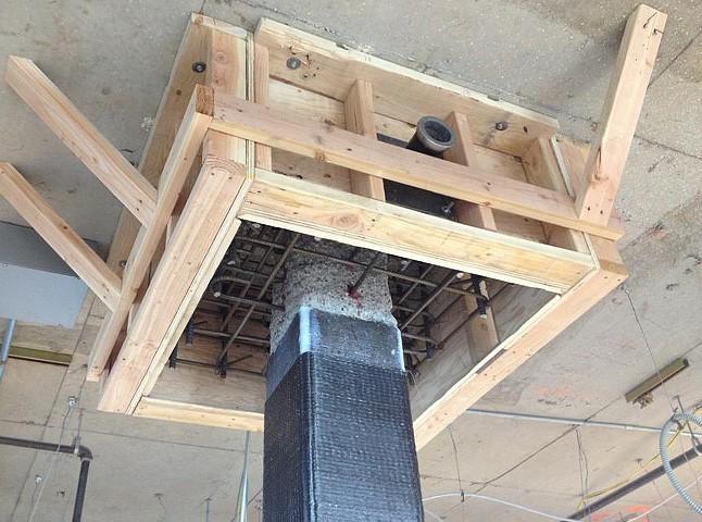 استفاده از بتن الیافی در محل اتصال تیر و ستون