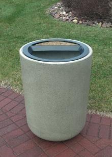 استفاده از مبلمان بتنی به عنوان زباله دان