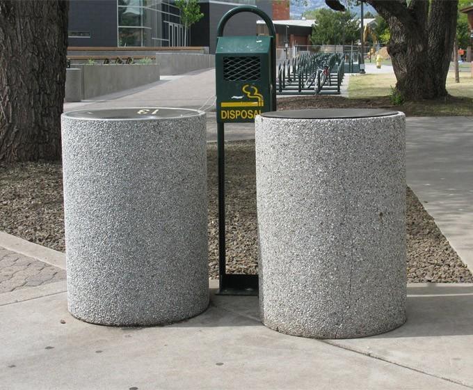 طراحی مبلمان بتنی برای ساخت زباله دان بتنی