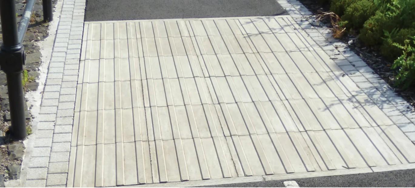 تعیین محدوده مسیر دوچرخه سواری با سنگفرش بتنی / سنگ فرش بتنی