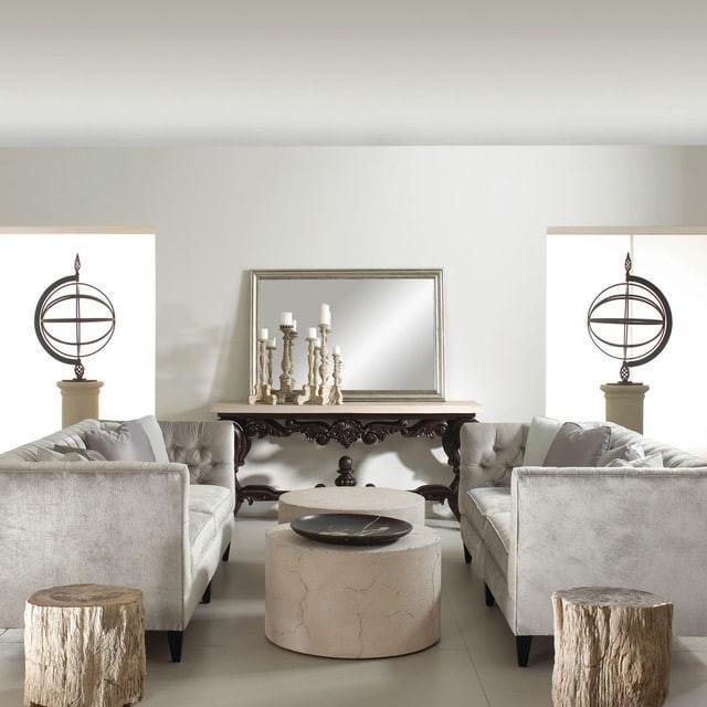 طراحی میز پذیرایی با مبلمان بتنی